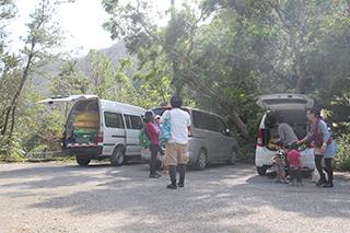 普久川の滝 駐車場