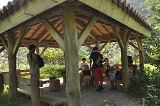 普久川の滝 小屋